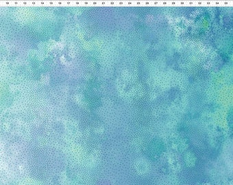 Ombre Fabric - Dotted Fabric - Diaphanous - In The Beginning Jason Yenter 6ENC2 Teal - Priced by the 1/2 yard