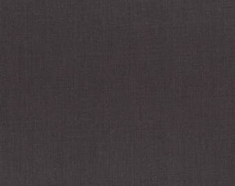 Graphite Gray Solid Fabric - RJR Fabrics - Cotton Supreme  9617 J - 396 Raven - Priced by the half yard
