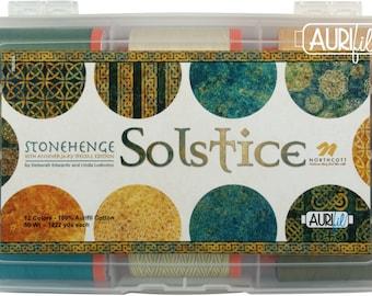 Solstice Aurifil 50wt thread Set - Solstice by Deborah Edwards & Linda Ludovico - Northcott - 50wt cotton 1422 yards - Twelve (12) spools