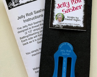 Jelly Roll Sasher - Pauline's Quilting World - Folding Tool - Jelly Roll Rug - Sold by the each - Blue only