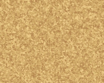 Camel Tan Solid Textured Fabric - Quilting Treasures QT Basics Color Blend - 23528 AE - Priced by the 1/2 yard