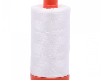 Aurifil White - Aurifil Off White - 40wt (1094 yards) or 50wt (1422 yards) - choose color below
