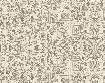 Something Wicked Brocade - Stephanie Marrot for Wilmington Fabrics 84383 199 Ivory - Priced by the 1/2 yard