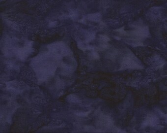 Java B7900 Gypsy Batik Fabric - Tonga Blender from Timeless Treasures - Midnight Blue - Priced by the 1/2 yard