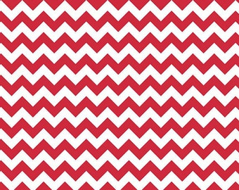Small Chevron Fabric by Riley Blake Designs C340 80 Red - Priced by the 1/2 yard