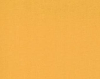 Orange Solid Fabric, Medium Orange - Bella Solid by Moda 9900 152 Cheddar - Priced by the 1/2 yard