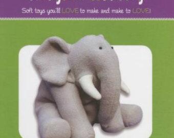 Elephant Stuffed Toy Pattern - Funky Friends Factory designed by Pauline - Ellie Elephant 4019 - DIY Pattern