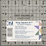 Easy square Rule Jr Quilting Square ruler - Sharon Hultgren - 882670142 - Acrylic 6.5 inch square