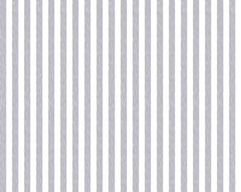 Glimmering Stripe Fabric, Glitter Stripe, Glimmer Fabric, Silver Metallic Fabric - Stof 4592 114 Silver - Priced by the Half yard