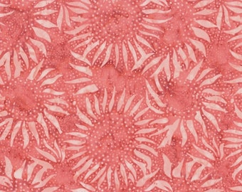Hoffman Bali Batik - Sunflower Batik Hoffman Fabrics - 884 416 Marmalade Pink - Priced by the Half Yard