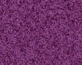 Plum Purple Solid Textured Fabric - Quilting Treasures QT Basics Color Blend - 23528 V - Priced by the 1/2 yard
