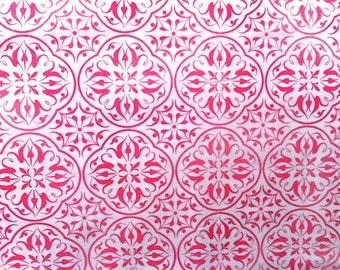 Pink Medallion Fabric - Luna II Filigree Medallions by Maywood Studio Fabrics 7836 Pink - Priced by the 1/2 yard