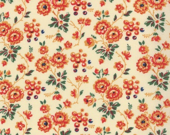 Small floral - Russian Floral Fabric - Russian Tradition Peasant Floral Cream for Moda Fabrics 32722 18 Cream - Priced by the 1/2 yard