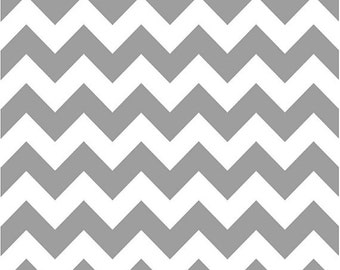 Chevron Fabric - Gray Taupe  Medium Chevron Fabric by Riley Blake Designs C320 40 Gray - Priced by the 1/2 yard