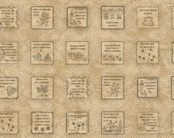 Robin-isms - In Stitches by Robin Kingsley (Bird Brain Designs)  Tea-Dyed Vintage Tan - Half Yard Pricing