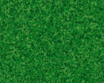 Leaf Green Solid Textured Fabric - Quilting Treasures QT Basics Color Blend - 23528 G - Priced by the 1/2 yard