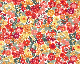 Summer Floral - Sevenberry Petite Red Floral - Kaufman - 6118 D2 1 Red - Priced by the 1/2 yard