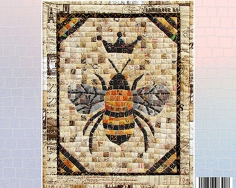 Queen Bee Mosaic - Mini Mosaic Quilts From Oy Vey Quilt Designs By Cheryl Lynch - MM391 - DIY Pattern