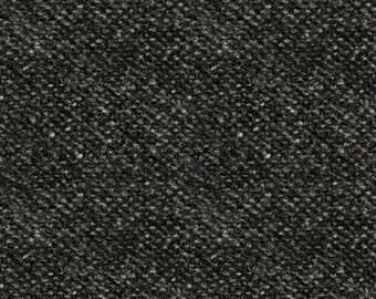 Woolies Flannel Fabric, Light Texture, Printed Nubby Tweed, Faux Wool - by Maywood Studios Gray F18507 JK - Priced by the 1/2 yard