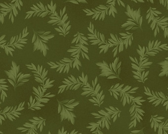 Leaf Fabric - Tonal Leaves Blender Fabric - Fruitful Life by Maywood Studios MAS 9325 Green - Priced by the 1/2 yard
