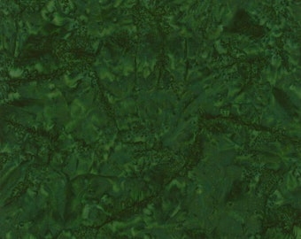 Java B7900 Sherwood Batik Fabric - Tonga Blender from Timeless Treasures - Medium Green - Priced by the 1/2 yard