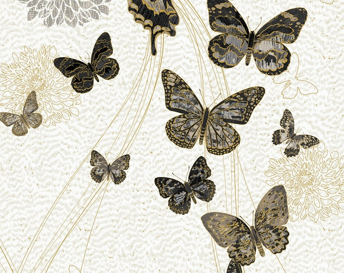 Featured listing image: Shimmer Fantasia Shadow - Butterfly Panel -  Northcott Studio -  22956M  95 -  Priced by the 24-Inch Panel