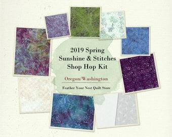 "Sea Life Nautical Batik Quilt Kit -  Coastal Chic - Designed by Deb Messina for Stitches Shop Hop 2019 - DIY Quilt 85""x85"""