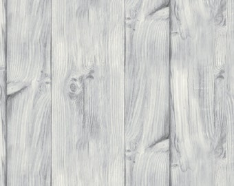 Weathered Plank Fabric - A Day at the Lake - Laura Marshall for Wilmington Fabrics - 59109 199 Light Gray - Priced by the half yard