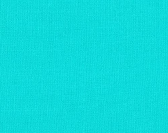Kona Cotton Solid Fabric - Splash (2019 Color of the Year) Turquoise Aqua - Priced by the 1/2 yard