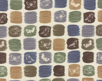 Field Guide Fabric -  Nature Creatures by Janet Clare for Moda Fabrics 1362 11 String - Priced by the 1/2 yard
