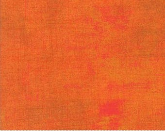 Orange Textured Fabric - Russet Grunge by BasicGrey for Moda Fabrics 30150 322 Medium Orange - Priced by the 1/2 yard