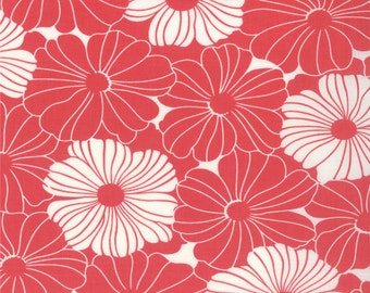 Floral Fabric - Bold Blossom from Simply Style by V & Co for Moda Fabrics 10811 14 Honeysuckle Pink - Priced by the 1/2 yard