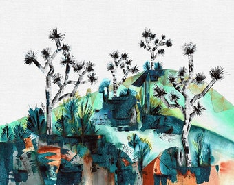 """Paintbrush Studio - Drenched Desert Modern Landscape by Noelle Phares 21525 - ~35""""x44""""  Priced by the Panel - Quilt Kit Option Available"""