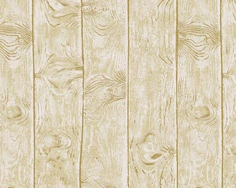 Wood grain Fabric - Birch Wood grain - Majestic Woods (Owl) by Kathy Hall for Andover 8587 KL - Priced by the 1/2 Yard