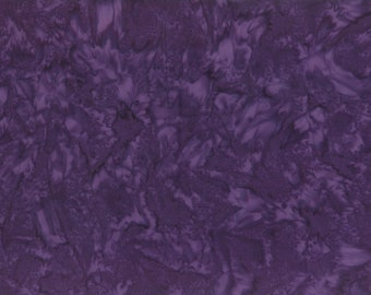 Solid Batik Fabric - Wilmington Rock Candy Batik - Washed Solid -  2678 669 Dark Purple - Priced by the half yard