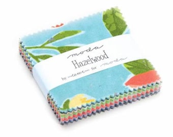 Hazelwood Fabric charm, Moda Fabric, 36010 Mini Charm candy 2.5 Inch Square - priced by the each (42 pieces per pack)