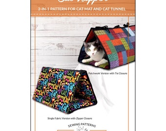 Cat Napper Tent - Cat Mat - Cat Cozy - Cat Hideway - Pet Bed - Sallie Tomato SAT 108  - DIY Project - Pattern