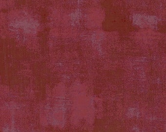 Burgundy Textured Fabric - Grunge Basics by BasicGrey for Moda Fabrics 30150 297 -  Burgundy red - Priced by the half yard