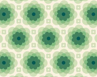 Shadow Flower - Taos Echo Bloom - Tucson Fabric - Florabelle  Joel Dewberry - Free Spirit PWJD151 Green - Priced by the1/2 yd
