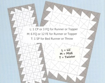Twister Planning Guide by Twisted Sister Designs - For use with Pinwheel templates (sold separately)