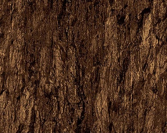 Tree Bark - Naturescape - Landscape  -  Northcott - 21398-34 Dark Brown - priced by the half yard
