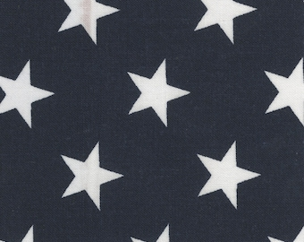 Star Fabric - Tossed Stars - White Stars - Quilt of Valor - Quilt Back 108 Inch Priced by the Yard