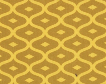 Geometric Fabric - Metro Geometric Ogee from Simply Style by V & Co for Moda Fabrics 10814 16 Mustard Yellow - Priced by the 1/2 yard