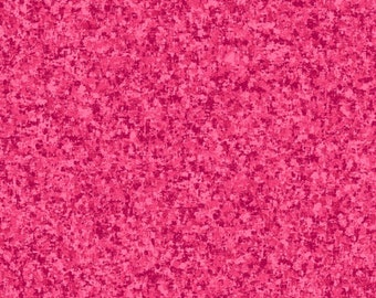 Fuchsia Pink Solid Textured Fabric - Quilting Treasures QT Basics Color Blend - 23528 PV - Priced by the 1/2 yard