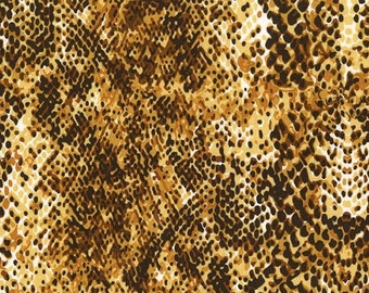 Snakeskin Fabric, Cobra Fabric, Animal Skin Fabric for Michael Miller Fabric CX 6921 Amber -  Priced by the 1 /2 yard