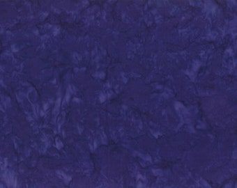 Solid Batik Fabric - Wilmington Rock Candy Batik - Washed Solid -  2678 664 Navy - Priced by the half yard