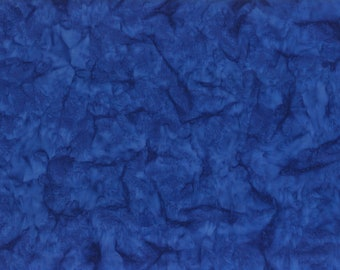 Solid Batik Fabric - Wilmington Rock Candy Batik - Washed Solid -  2678 441 Dark Blue - Priced by the half yard