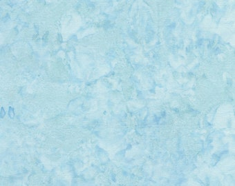 Batik Fabric - Tonga Java Batik Blender from Timeless Treasures B7900 Fiji - Light Blue - Priced by the 1/2 yard