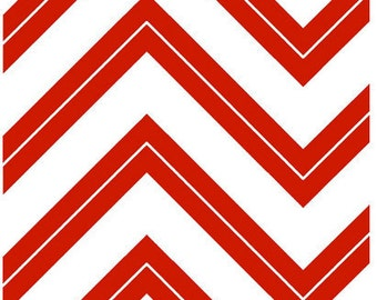 Cruzin' Chevron Fabric - Cruzin' Zig Zag by Barbara Jones of QuiltSoup for Henry Glass 5993 08 Red - Priced by the 1/2 yard