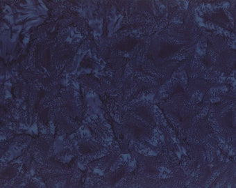 Solid Batik Fabric - Wilmington Rock Candy Batik - Washed Solid -  2678 449 Dk Blue - Priced by the half yard